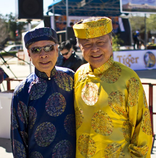 Two Asian men in Traditional Dress